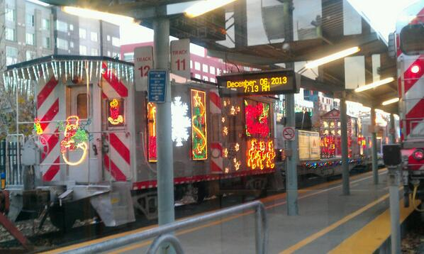 Happy December Friday! Looks like the @Caltrain_News holiday train is just about ready to go. http://t.co/IDE7n5xncT
