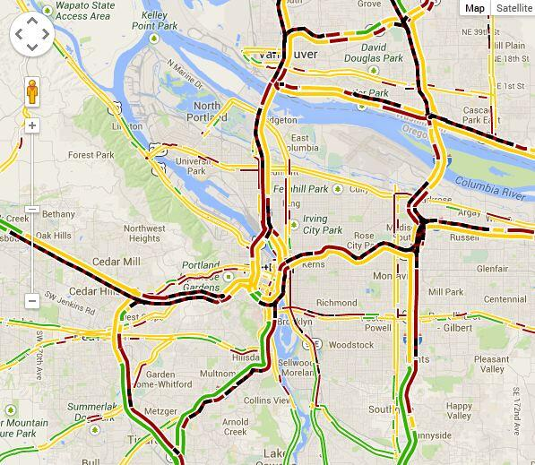 Katu News On Twitter Wow Take A Look At Our Portland Traffic Map