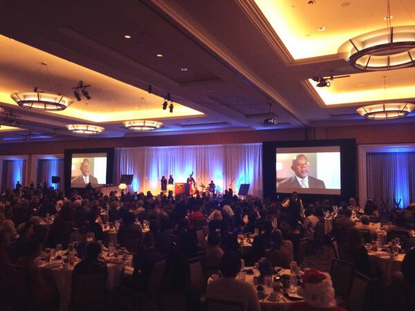 Serving up some beautiful videos for the @HBGanttCenter's #Jazzy2013 Luncheon. @HenryLouisGates on the big screen | http://t.co/ljBF81ldHa