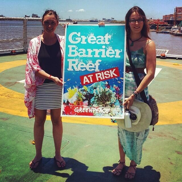 Twitter / GreenpeaceAustP: Save our Reef! #Esperanza ...