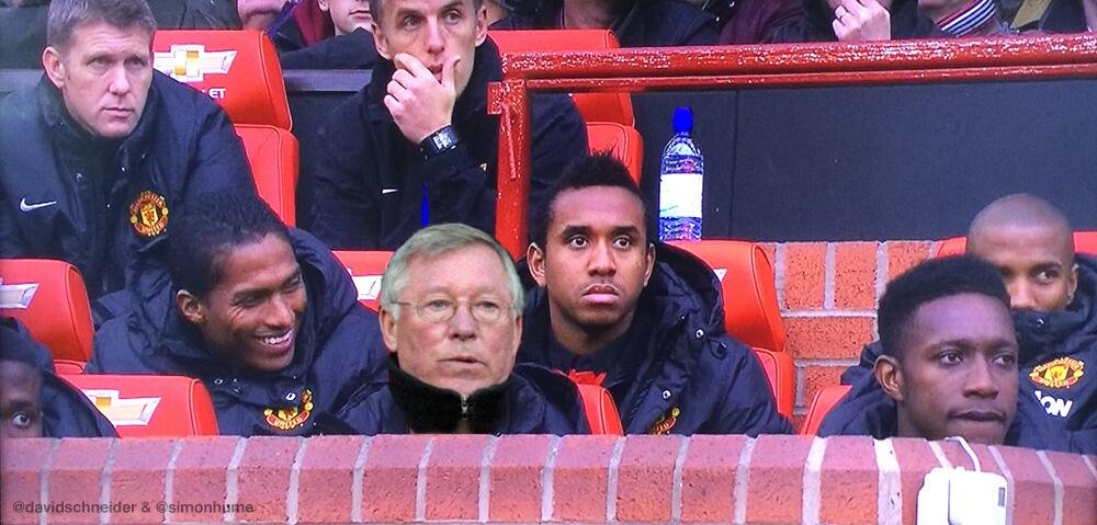 At least Moyes has got someone on the bench today who can really change a game (with thanks to @simonhume) #MUFC http://t.co/6vs56LgyTi