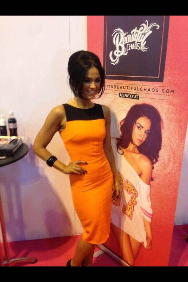 RT @viphairbyvicky: Who's been to see the beautiful @VickyGShore at @ClothesShow today then? http://t.co/XWttB54AuU