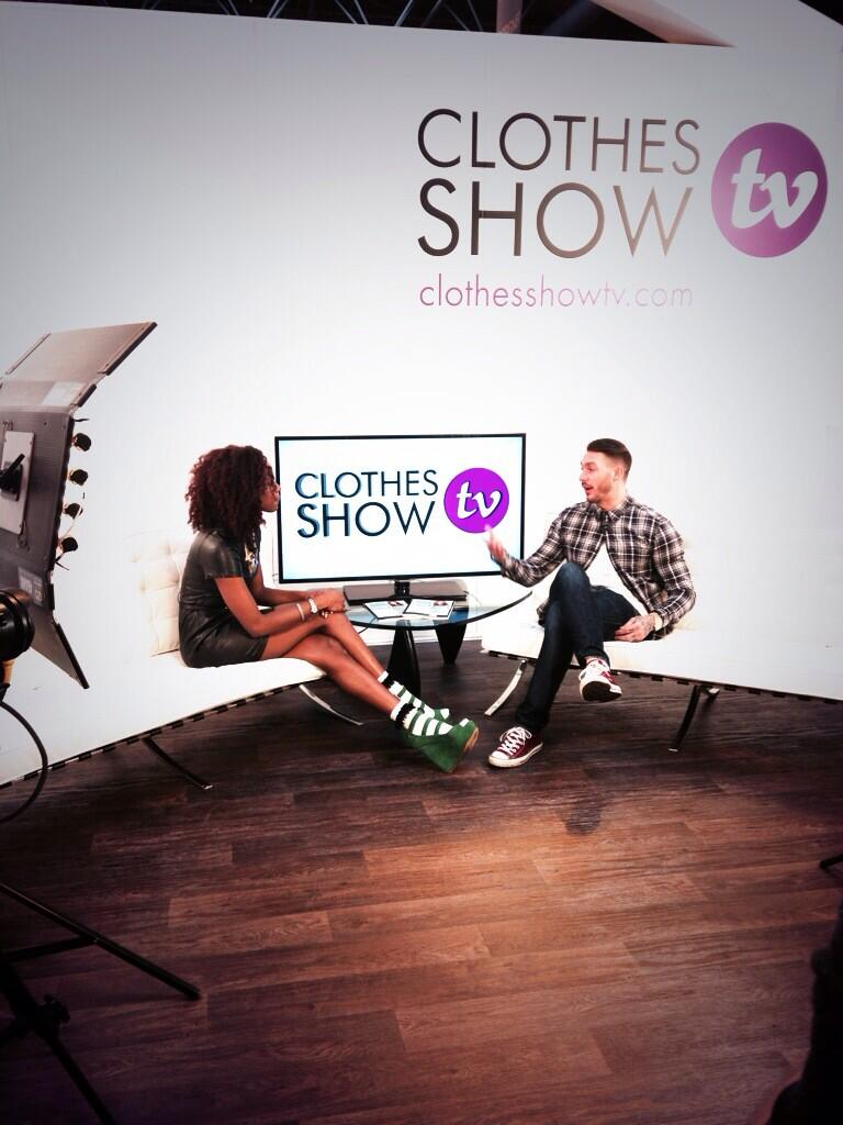 RT @ClothesShow: .@AnnalieseDayes gets the low down from @kirk_official for #CSTV! http://t.co/67aVYTeexJ