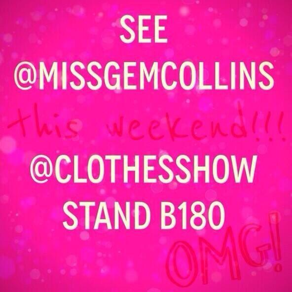 Everyone @ClothesShow who is size 16 + don't be disappointed I have beautiful clothes here for come say hello x http://t.co/xPmrVhuzbC