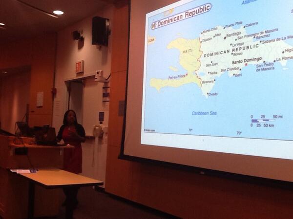 #NECR13 Sandra Harris interviewed border residents btwn DR & Haiti on the effects of living as undocumented in DR http://t.co/olzgrUFOvX