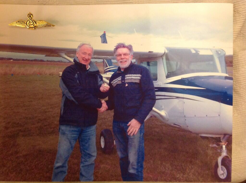 RT @ChrisPowdrill: @carolvorders http://t.co/n0tvWmiE64 Got my wings too, wow that is a real test! 71st birthday on Monday what a present!
