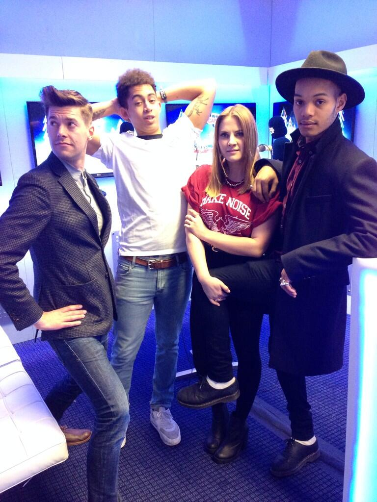 Look it's @richclarke @GregCapital and @katshoob with @RizzleKicks #CapitalJBB http://t.co/XQI8NPOJIq