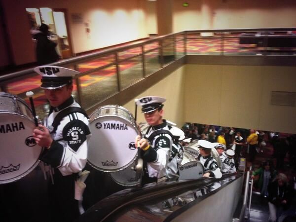 RT @msudrumline: #checkpoint up
