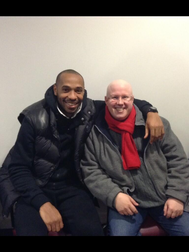 Football and Comedy legends! Thierry Henry and Matt Lucas pose for a photo