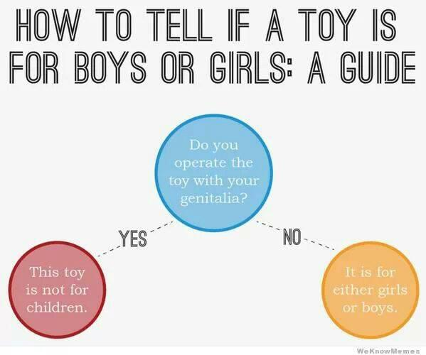 How to tell if a toy is for boys or girls. #parenting http://t.co/4c3NDfRZFW