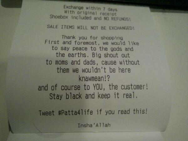 New receipt http://t.co/MLFh5GUU8q