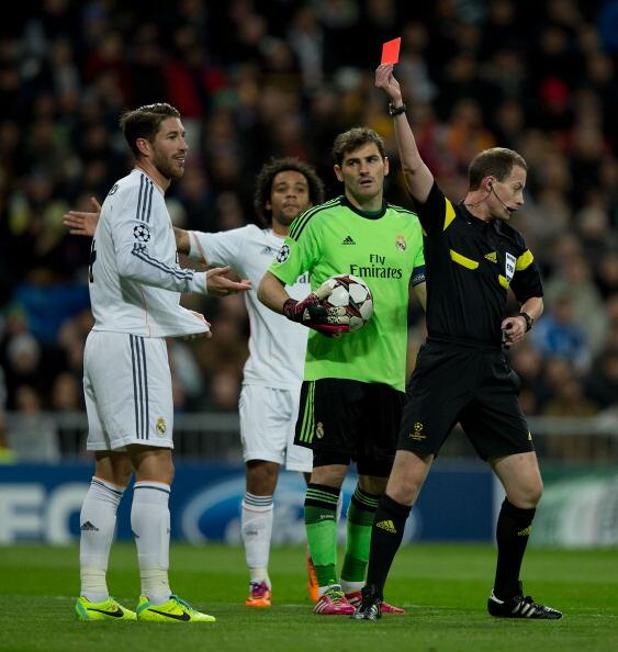 Sergio Ramos receives controversial red card v Galatasaray; Becomes most sent off Real Madrid player ever [GIF & Video]