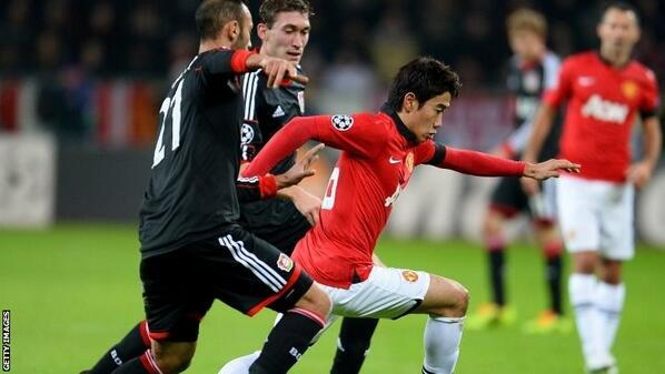 Shinji Kagawa starred in the hole for Manchester United against Bayer Leverkusen [Individual highlights]