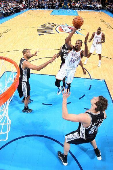 Kevin Durant (24 pts, 13 reb) helps @okcthunder hand @spurs 2nd loss of the year. BOX SCORE: http://t.co/kKFGn7dQ9c http://t.co/oZlArEF3UX