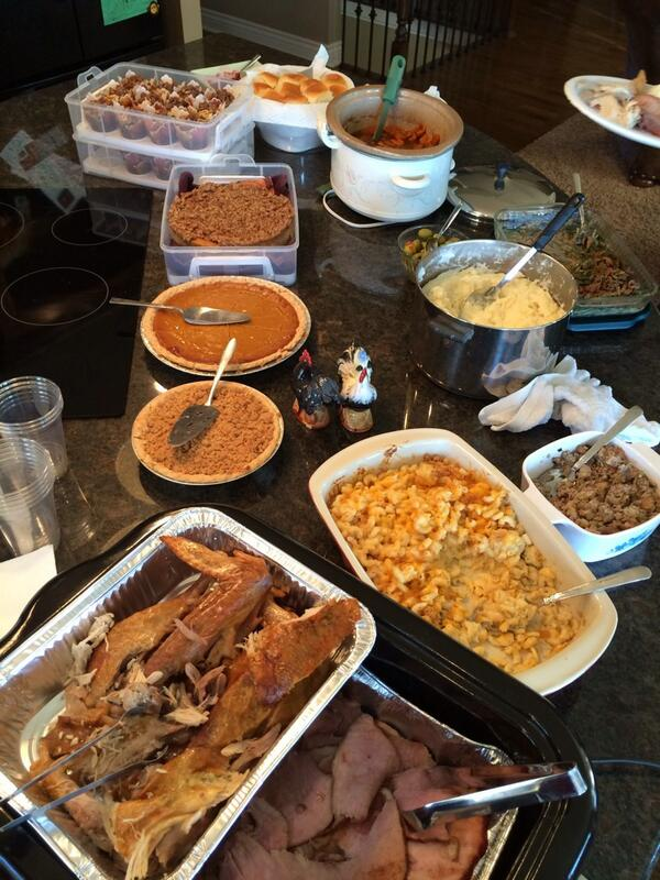Happy Thanksgiving!!  What's your spread look like??  #thankfulforfamily <br>http://pic.twitter.com/gHw3QJQoBS