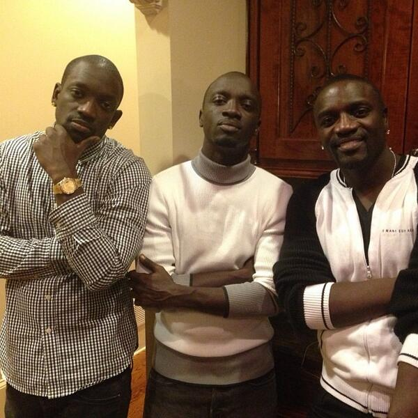 Photo de Akon  & son  frère  Omar