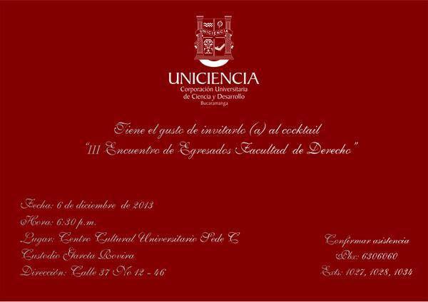 Unicienciabga On Twitter Tarjeta De Invitación Iii