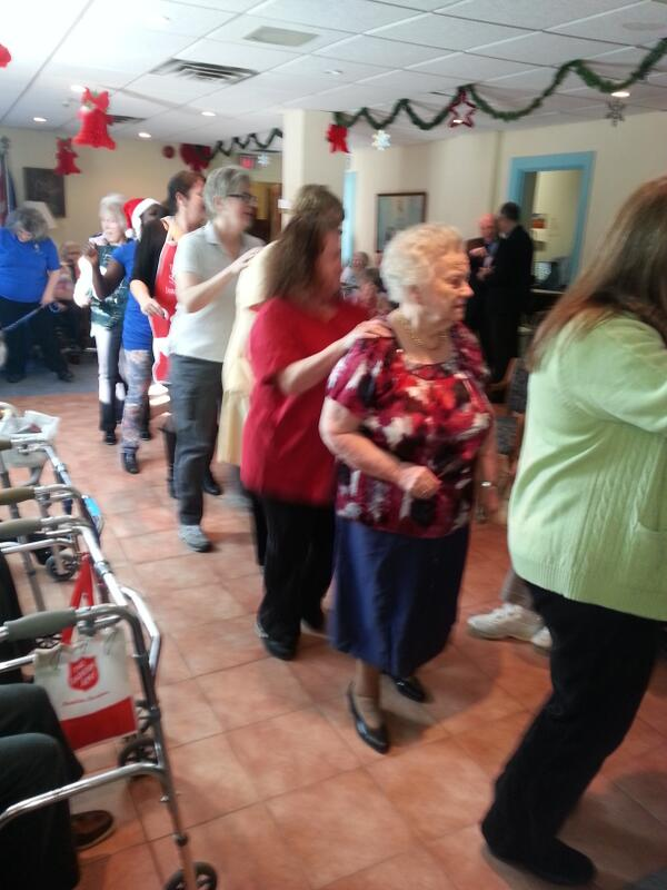 Debra Arbec On Twitter Doing The Christmas Conga Line At The Salvation Army Montclair Residence In Ndg During Their Tree Lighting Party Http T Co Bd6g2l479q