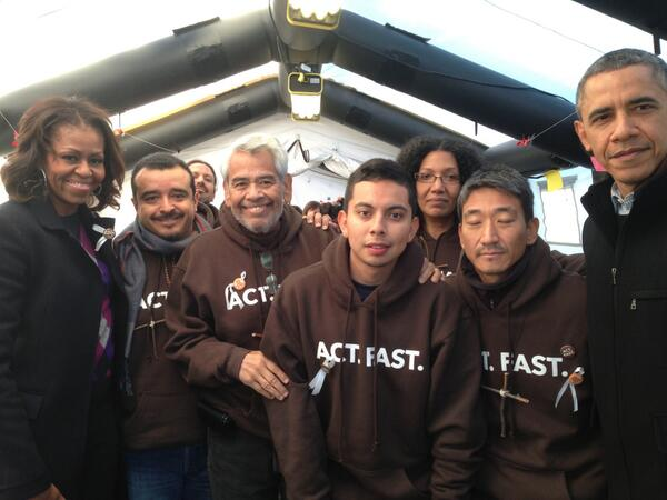 ".@BarackObama & @MichelleObama & the fasters today - ""it's not a matter of if, but of when"" #Fast4Families http://t.co/Isoz9TT2HV"