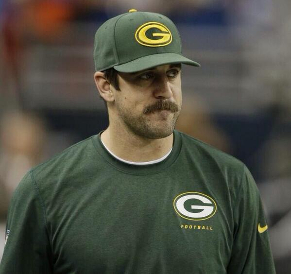 White Goodman On Twitter Aaron Rodgers Mustache Is A Thing Of Beauty Reminds Me Myself Back In My ADAA Days Tco YFjLJYWnNq