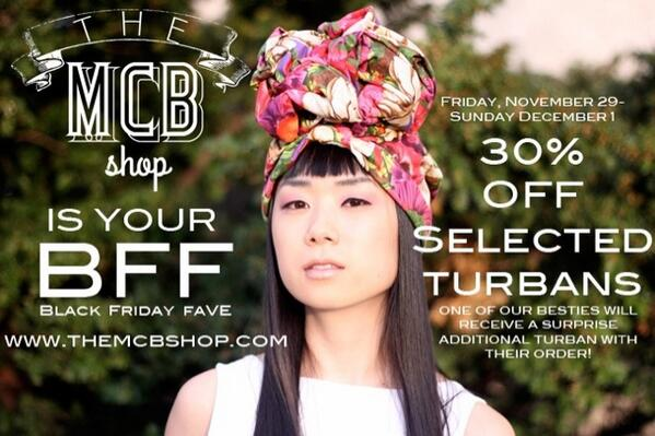 It's cold outside. Put something (like a turban from The MCB Shop) on your head! 30% off select styles now! http://t.co/2tXbbDXbdE