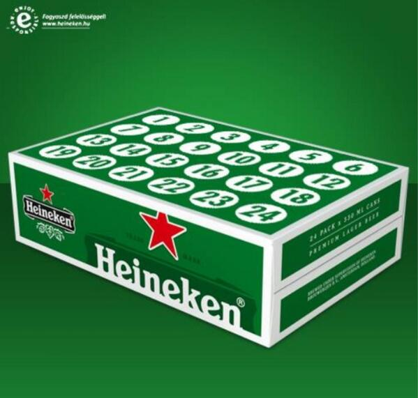brands otherstories on twitter dit is wel een hele coole adventskalender van heineken http. Black Bedroom Furniture Sets. Home Design Ideas