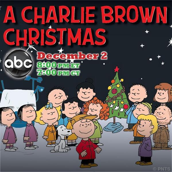 peanuts on twitter a charlie brown christmas airs monday night at 8pm on abc re tweet if youre watching with us httptco6amaxspb23 - Charlie Brown Christmas On Tv