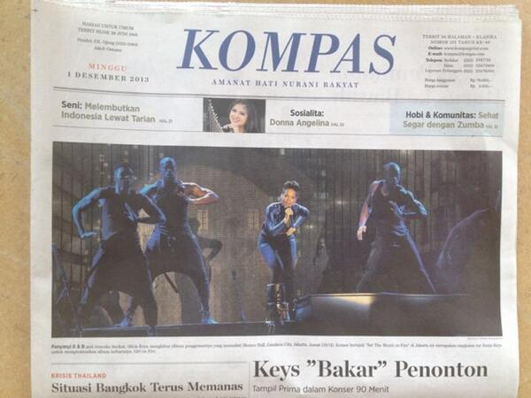 Alicia Keys di headline Kompas hari ini http://t.co/rvG0BnsJyc