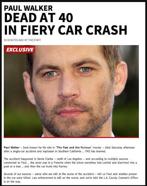 [PIC] Update foto kecelakaan Paul Walker