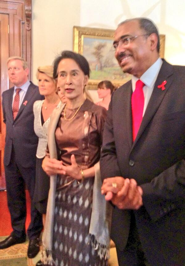 RT @MichelSidibe: w/ Daw Aung San Suu Kyi, @JulieBishopMP and David Davis launching #ZeroDiscrimination Day http://t.co/GAHegRjz0d #WAD2013
