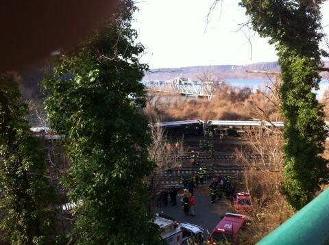 First responders stabilizing the train #derail http://t.co/ukZeEn07zp