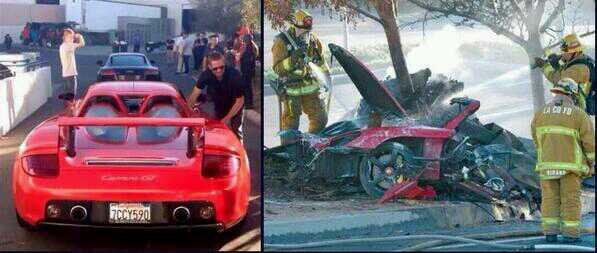 El coche de Paul Walker antes y despues del accidente. Escalofriante! #DEP http://t.co/dd74GlKbH6