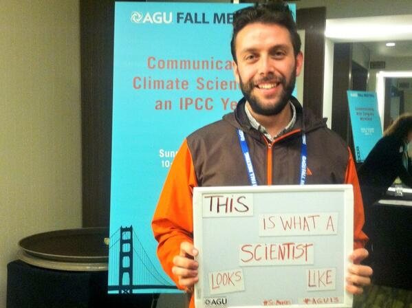 Great initiative to show the diverse body of scientists and research! Follow #SciMatters #AGU13 @theAGU http://t.co/bDxzHTbP4p