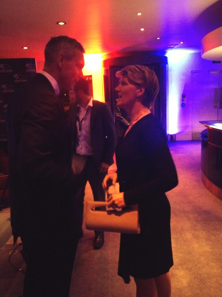 RT @JaguarAcademy: @MarkFosterSwim and @clarebalding enjoying the reception ahead of the #JagAwards ceremony http://t.co/caaeK7wZoR