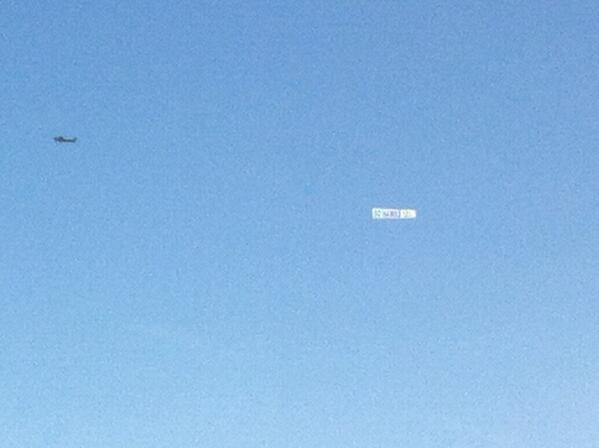 """Hard to see but take my word. There is the """"Go Hawks 12"""" banner above Candlestick #seahawks http://t.co/AMSrm2Heyu"""