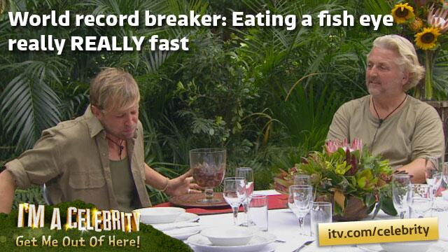 Someone get Guinness on the phone! We have world record breaker! @KianEganWL http://t.co/E90mjhpWyk #imacelebrity http://t.co/zi1cJcCqVk