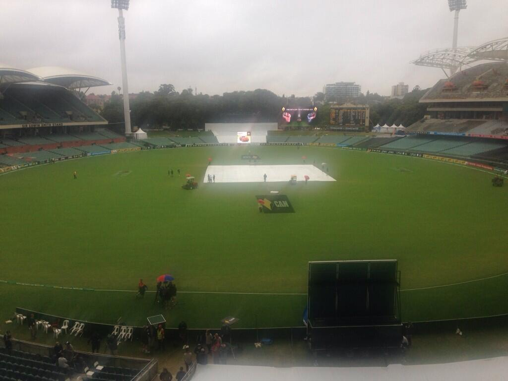 The glorious picture of the ground this morning.... #ashes http://t.co/Zavn9d8kUX
