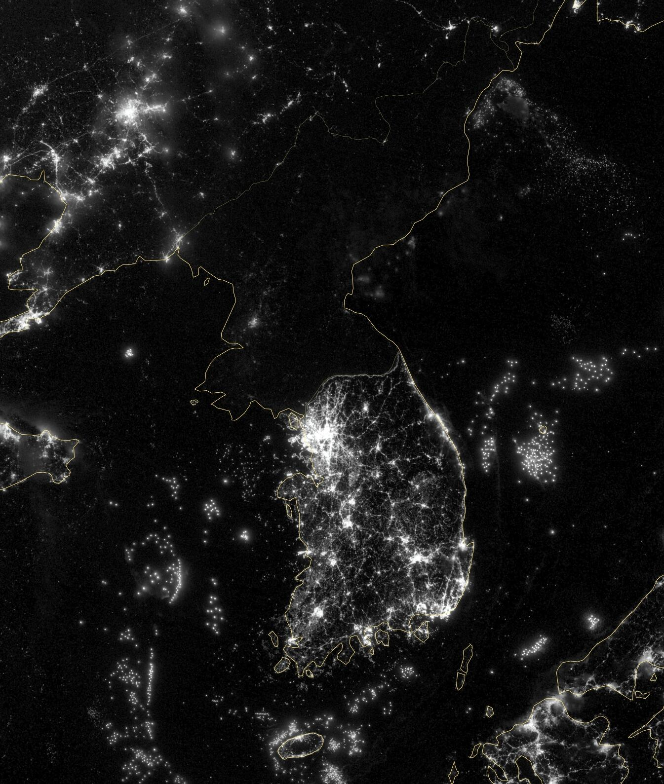 Северная корея фото со спутника