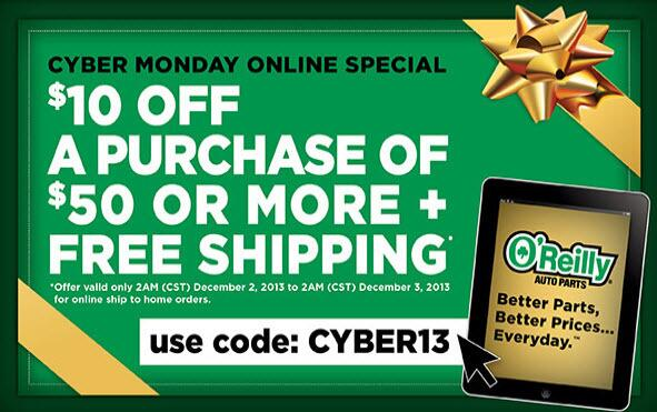 O Reilly Auto Parts On Twitter Cyber Monday Promo Code Cyber13
