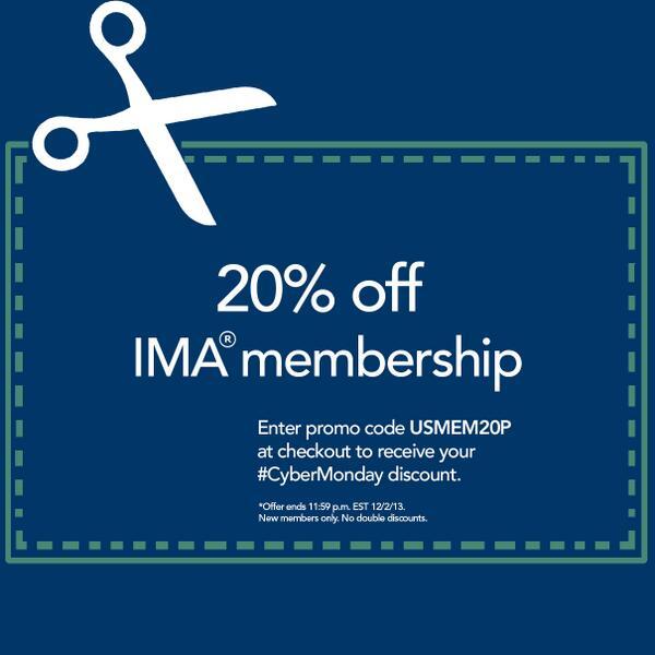 Ima On Twitter Ima Is Offering 20 Off Membership Enter Promo