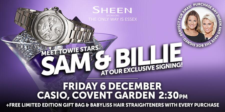 Perfect Xmas pressie! Me and @SamanthaFaiers will be signing @SheenWatches at @CasioLDN at 2:30 this Friday! http://t.co/dpKMSCZpzr .. 👯💋✌ x