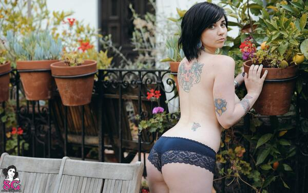 Suicidegirls On Twitter Quinne Suicide Is Topless In Black Lace Panties T Co 0dduk93cvk