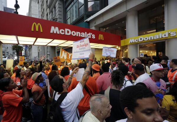 Fast Food Workers Strike Across the United States