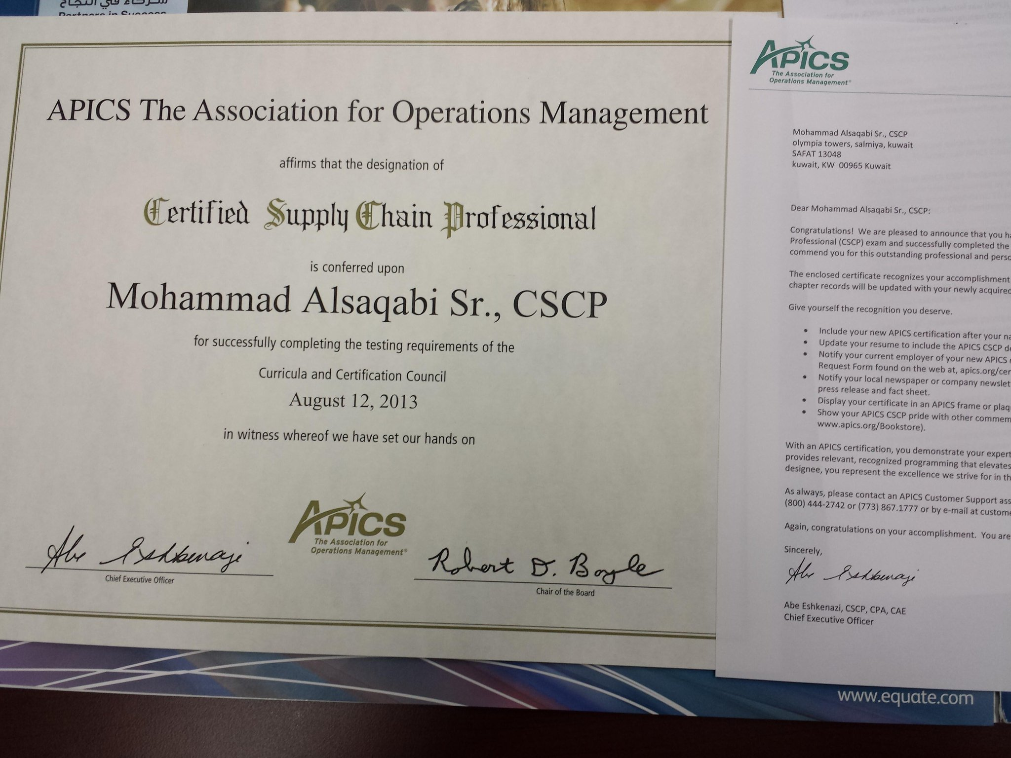 On Twitter Finally The Certificate Has Arrived