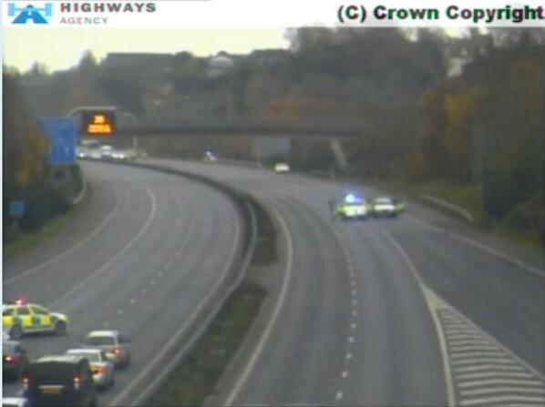 #A3(M) - Moo-torway now closed in both directions at J4 due to cow loose on carriageway. Delays starting to beef up. http://t.co/plwRWrAl8S
