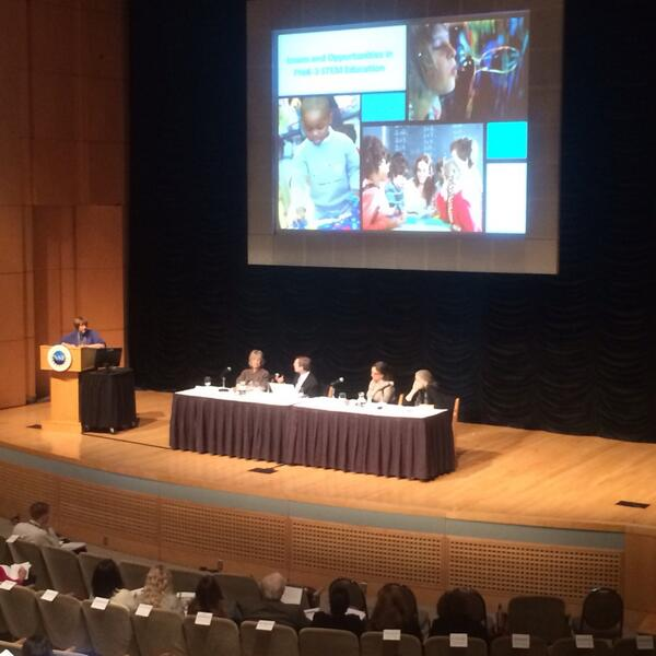 300 educators hear about early childhood ed setting the stage for STEM learning. #nsfstem http://t.co/dxxIYuNisU