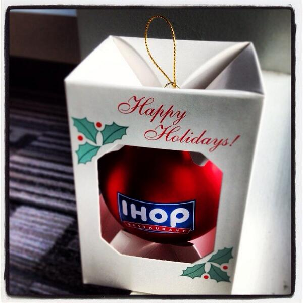 dan gleiter on twitter for pancake lovers the ihop christmas ornament httptcopnuprkzwcy