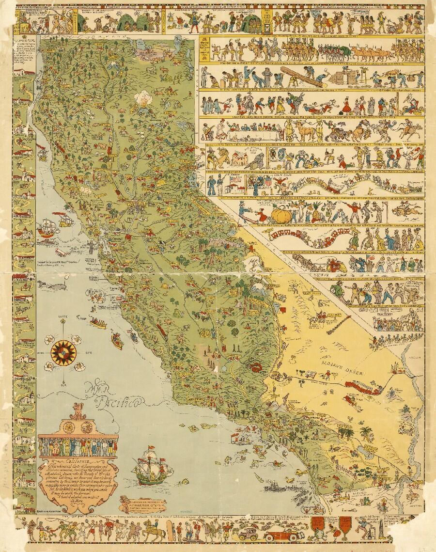 LA Public Library On Twitter Map California By Jo Mora - Jo mora los angeles map