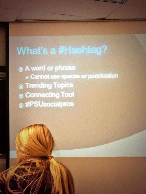 what's your favorite #hashtag? #PSUsocialpros http://t.co/K2ZJ0GTKxA
