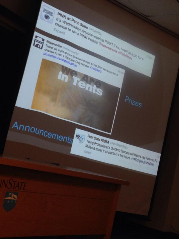 Our past tweet was used as an example at Social Media Bootcamp! #prizes #PSUsocialpros http://t.co/LWUGooQ3hq